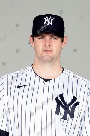 This is a 2021 photo of Jordan Montgomery of the New York Yankees baseball team. This image reflects the New York Yankees active roster as of when this image was taken