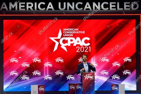 Donald Trump Jr., speaks at the Conservative Political Action Conference (CPAC), in Orlando, Fla