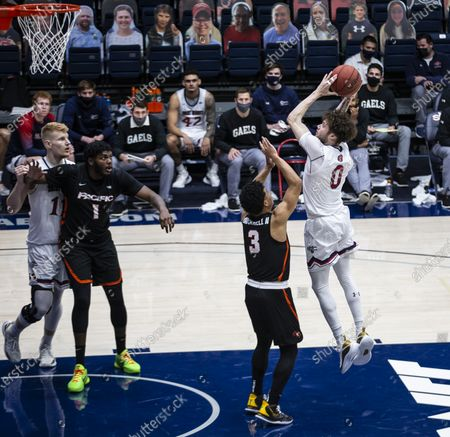 Editorial photo of NCAA Men's Basketball Pacific vs Saint Mary's, Moraga, USA - 25 Feb 2021