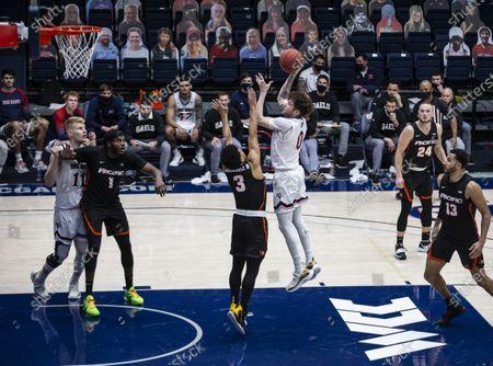 Editorial picture of NCAA Men's Basketball Pacific vs Saint Mary's, Moraga, USA - 25 Feb 2021