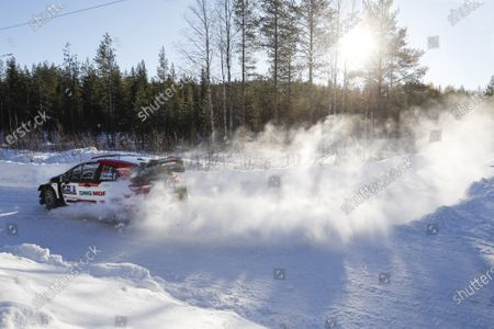 Sebastien Ogier of France drives his Toyota Yaris WRC during Day 2 of the Arctic Rally Rovaniemi Finland 2021 as part of the FIA World Rally Championship (WRC) near Rovaniemi, Finland, 2t February 2021.