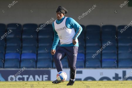 Nile Ranger of Southend United during the half time warm up Sky Bet League Two match between Southend United and Salford City at Roots Hall in Southend - 27th February 2021
