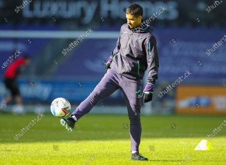 Kyle Naughton of Swansea City during the warm up; Liberty Stadium, Swansea, Glamorgan, Wales; English Football League Championship Football, Swansea City versus Bristol City.