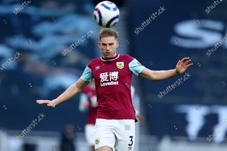 Charlie Taylor of Burnley; Tottenham Hotspur Stadium, London, England; English Premier League Football, Tottenham Hotspur versus Burnley.