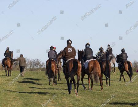 Editorial photo of Early Morning Exercise, Kingsclere, Newbury, Berkshire, UK - 27 Feb 2021