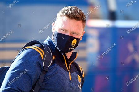 Chris Ashton and the rest of the Worcester Warriors team arrive at Kingsholm Stadium