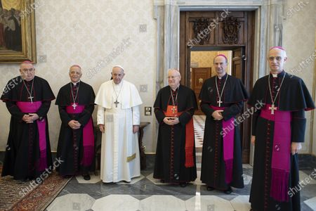 Editorial picture of Pope receives in audience the leaders of the CEI, Vatican City, Vatican City State Holy See - 27 Feb 2021