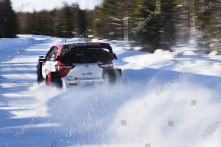 French Sebastien Ogier and co-driver Julien Ingrassia of France in action with the Toyota Yaris WRC during the 2nd day of the FIA WRC Arctic Lapland Rally in Rovaniemi, Finland on Saturday, 27th February, 2021.