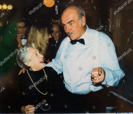 Elena Salvoni with actor Sean Connery