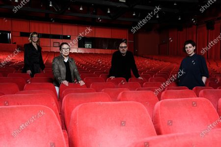Members of the jury of the 71st Berlin International Film Festival  Bosnian director Jasmila Zbanic, Hungarian director Ildiko Enyedi, Italian director Gianfranco Rosi and Romanian director Adina Pintilie pose in the Berlinale Palast in Berlin, Germany, 27 February 2021. Due to restrictions of the coronavirus Covid-19 pandemic, that causes the covid-19 disease, the Berlinale 2021 will be held as a virtual industry event, running from 01 to 05 March 2021 and a so-called Summer Special including spectators, running from 09 to 20 June 2021.