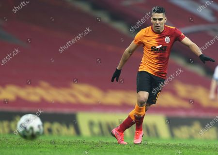 Stock Picture of Radamel Falcao of Galatasaray in action during the Turkish Super League soccer match between Galatasaray and Erzurumspor in Istanbul, Turkey, 27 February 2021.