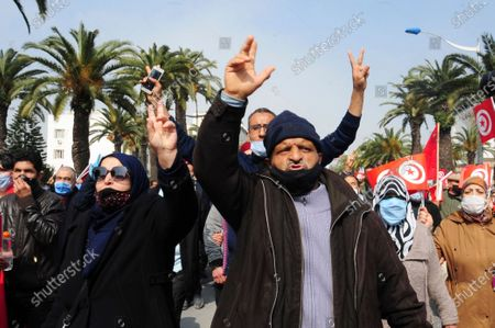 Editorial picture of Tunisa Protests, Paris, France - 27 Feb 2021
