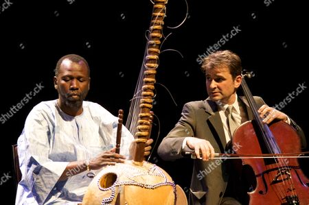 Stock Image of Ballake Sissoko and Vincent Segal