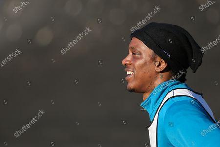 Nile Ranger of Southend United warmimg up