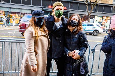 Shoshana Bean, Gavin Creel and Sara Bareilles pose for a photo during a break