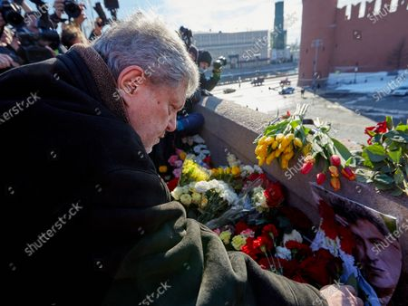 The leader of the Yabloko party, Grigory Yavlinsky, seen during the memorial.More than 10 thousand people took part in the memory of Boris Nemtsov on the sixth anniversary of the murder of the politician. Among them are former Prime Minister Mikhail Kasyanov, politicians Ilya Yashin, Dmitry Gudkov, Grigory Yavlinsky and Yulia Galyamina, political prisoners Konstantin Kotov and Anna Pavlikova, and Yulia Navalnaya.
