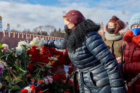 Editorial photo of Memorial of Boris Nemtsov in Moscow, Russia - 28 Feb 2021
