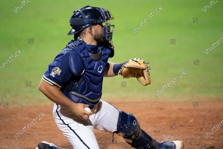 Stock Photo of Florida International Luis Chavez in action against Miami (Oh) during an NCAA baseball game on in Miami