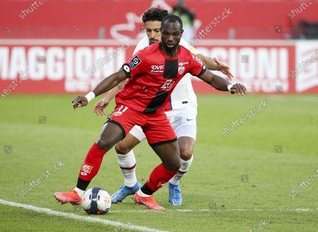 Moussa Konate of Dijon, Marquinhos of PSG