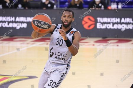 Norris Cole during the match between FC Barcelona and ASVEL Lyon-Villeurbanne, corresponding to the week 26 of the Euroleague, played at the Palau Blaugrana, on 26th February 2021, in Barcelona, Spain.  -- (Photo by Urbanandsport/NurPhoto)