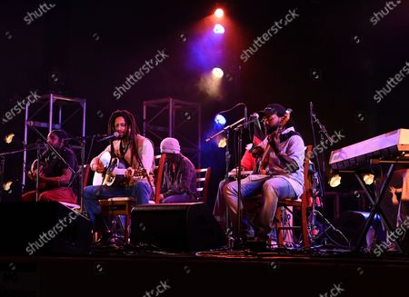 Stock Picture of Julian Marley and Aston Barrett Jr perform a semi acoustic set with The Wailers