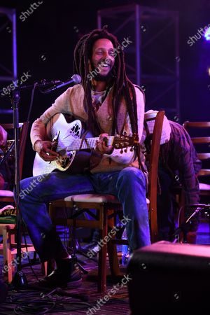 Editorial picture of Julian Marley in concert at the Old School Square Pavilion, Delray Beach, Florida, USA - 27 Feb 2021