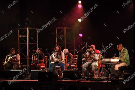 Julian Marley and Aston Barrett Jr perform a semi acoustic set with The Wailers