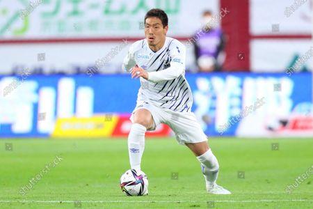 Stock Photo of Gen Shoji (Gamba) - Football / Soccer :  2021 J1 League match between  Vissel Kobe 1-0 Gamba Osaka  at Noevir Stadium Kobe in Hyogo, Japan.