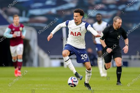 Stock Picture of Dele Alli (20) of Tottenham Hotspur during the Premier League match between Tottenham Hotspur and Burnley at Tottenham Hotspur Stadium, London