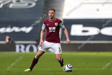 Charlie Taylor (3) of Burnley during the Premier League match between Tottenham Hotspur and Burnley at Tottenham Hotspur Stadium, London