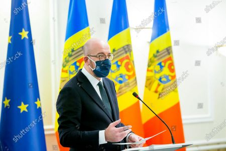 Editorial picture of European Council President Charles Michel visits Moldova, Chisinau, Moldova Republic Of - 28 Feb 2021