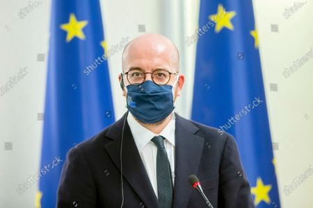 Editorial photo of European Council President Charles Michel visits Moldova, Chisinau, Moldova Republic Of - 28 Feb 2021