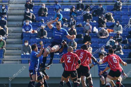 Editorial image of Panasonic Wild Knights v Hino Red Dolphins, Japan Rugby Top League, Kumagaya Stadium, Saitama pref, Japan - 28 Feb 2021