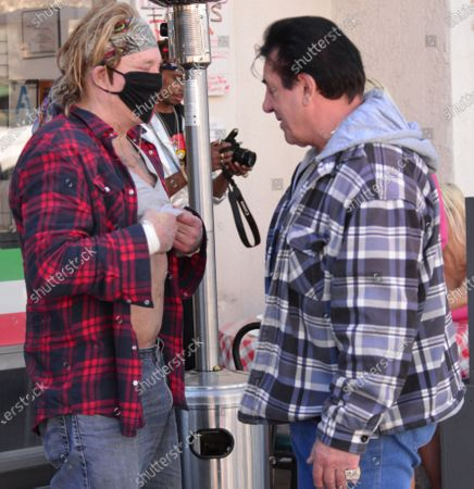 Editorial image of Exclusive - Mickey Rourke out and about, Beverly Hills, Los Angeles, California, USA - 27 Feb 2021