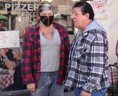 Stock Image of Exclusive - Mickey Rourke and Chuck Zito