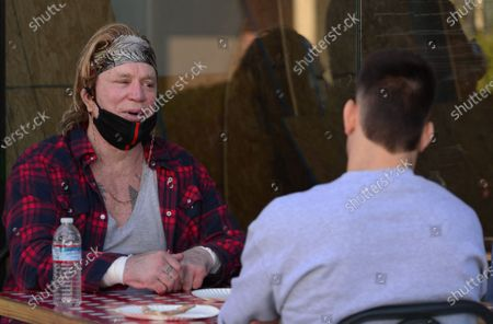 Exclusive - Mickey Rourke gives pointers to MMA fighter Mickey Gall