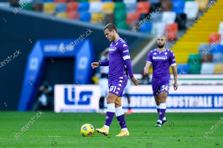 Aleksandr Kokorin (ACF Fiorentina) shows his dejection