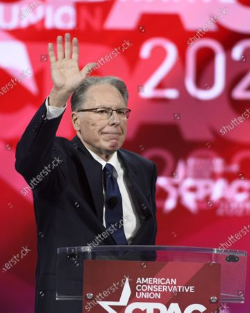 Wayne LaPierre of the National Rifle Association, addresses attendees at the Conservative Political Action Conference