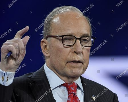 Stock Photo of Larry Kudlow, Former Assistant to the President for Economic Policy, addresses attendees at the Conservative Political Action Conference