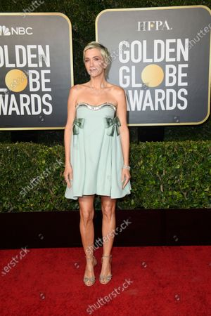 Handout image released by the Hollywood Foreign Press Association showing Kristen Wiig arriving for the 78th annual Golden Globe Awards ceremony at the Beverly Hilton Hotel, in Beverly Hills, California, USA, 28 February 2021.