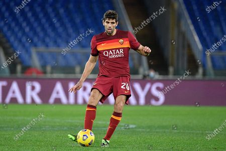 Federico Fazio of AS Roma seen in action during the Italian Football Championship League A 2020/2021 match between AS Roma and AC Milan at the Olimpic Stadium in Rome. (Final score; AS Roma 1-2 AC Milan)