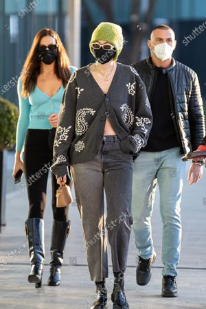 Stock Picture of Gigi Hadid leaving the Versace's headquarters