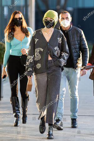 Stock Photo of Gigi Hadid leaving the Versace's headquarters