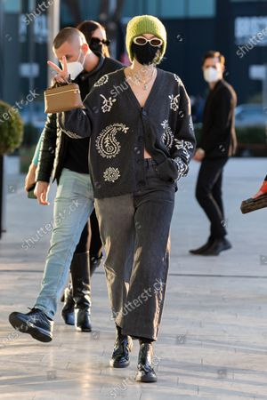 Editorial picture of Celebrities out and about, Autumn Winter 2021, Milan Fashion Week, Italy - 28 Feb 2021