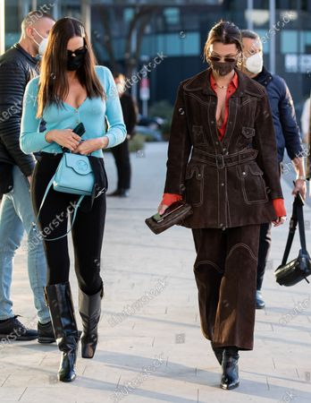 Editorial photo of Celebrities out and about, Autumn Winter 2021, Milan Fashion Week, Italy - 28 Feb 2021