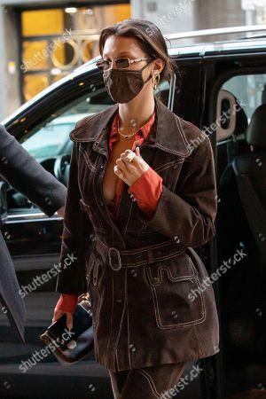 Bella Hadid arriving to a restaurant in Milan during Milan Fashion Week