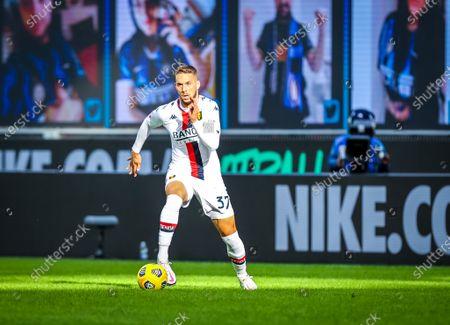 Marko Pjaca of Genoa CFC in action