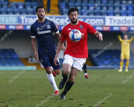 Jason Lowe of Salford City during Sky Bet League Two between Southend United and Salford City at Roots Hall Stadium , Southend, UK on 27th February 2021  (Photo by Action Foto Sport/NurPhoto)