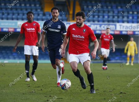 Stock Image of Jason Lowe of Salford City during Sky Bet League Two between Southend United and Salford City at Roots Hall Stadium , Southend, UK on 27th February 2021  (Photo by Action Foto Sport/NurPhoto)
