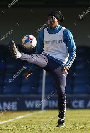 Stock Photo of Nile Ranger of Southend United  during Sky Bet League Two between Southend United and Salford City at Roots Hall Stadium , Southend, UK on 27th February 2021  (Photo by Action Foto Sport/NurPhoto)